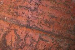 Metallo arrugginito con vecchia pittura incrinata Fotografie Stock