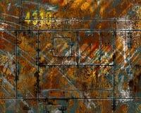 Metallo arrugginito graffiato afflitto Fotografia Stock