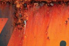 Metallo arrugginito rosso fotografie stock libere da diritti