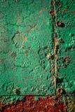 Metallo arrugginito verde Fotografia Stock