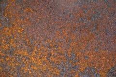 Metallo caustico arrugginito fotografia stock
