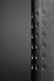 Metallo con i fori Fotografie Stock
