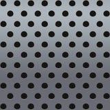 Metallo con perforazione Fotografie Stock Libere da Diritti