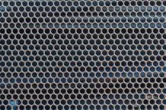Metallo cromato perforato della lamiera sottile Fotografie Stock