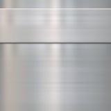Metallo d'acciaio spazzolato indennità Immagini Stock Libere da Diritti