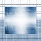 Metallo d'argento sulle mattonelle Fotografia Stock Libera da Diritti