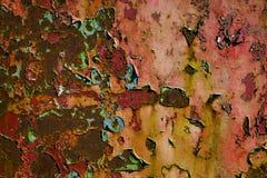 Metallo d'arrugginimento e pittura di sfaldamento immagini stock