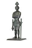 Metallo del cavaliere del giocattolo con macis Immagini Stock
