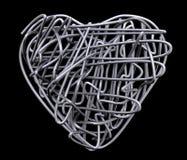Metallo del cuore del collegare Fotografia Stock Libera da Diritti