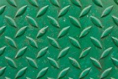 Metallo del diamante verniciato verde Fotografia Stock