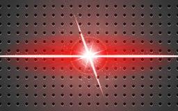 Metallo del fondo e rosso a forma di V leggero della proiezione Immagini Stock Libere da Diritti