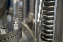 Metallo dell'acciaio della flangia di valvola Fotografie Stock