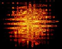 Metallo dell'acqua del fuoco Fotografie Stock