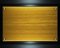 Metallo dell'oro Fotografie Stock Libere da Diritti
