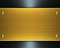 Metallo dell'oro Immagine Stock Libera da Diritti