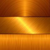 Metallo dell'oro Immagini Stock Libere da Diritti