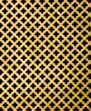 Metallo dell'oro con il buco nero trasversale Fotografia Stock
