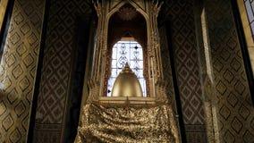 Metallo dell'oro della sommità della pagoda castleOnly il mondo, Bangkok thailand Immagini Stock