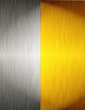 Metallo dell'oro e dell'argento Fotografie Stock