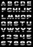 Metallo della fonte tipografica Fotografia Stock