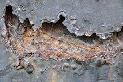 Metallo della ruggine, danno del fondo di corrosione e della ruggine Immagine Stock Libera da Diritti