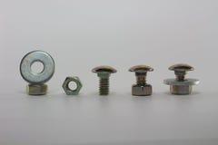 Metallo dello strumento della vite del dado che ripara costruzione Fotografie Stock