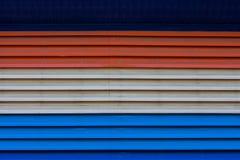 Metallo dello zinco di Beautyful rosso, blu, bianco o struttura, fondo Immagine Stock Libera da Diritti