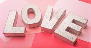 Metallo di amore Immagine Stock