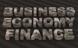Metallo di finanza di affari del testo Fotografia Stock Libera da Diritti
