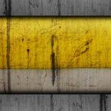 Metallo di lerciume di struttura di giallo della pittura del fondo vecchio Immagini Stock