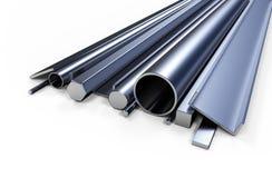 Metallo di profilo Immagine Stock