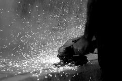 Metallo di Sawing Immagini Stock Libere da Diritti