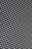 Metallo di superficie con i fori quadrati Fotografia Stock