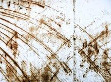 Metallo di superficie industriale graffiato Immagini Stock Libere da Diritti