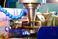 Metallo di taglio con ossigeno Immagine Stock