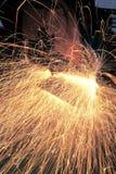 Metallo e scintille di saldatura Immagine Stock Libera da Diritti