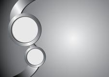 Metallo e spazio astratti del cerchio per testo illustrazione di stock