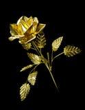 Metallo giallo Rosa Fotografie Stock Libere da Diritti