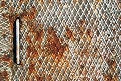 Metallo grided arrugginito fotografie stock libere da diritti