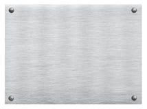Metallo grigio graffiato, acciaio, struttura di alluminio del piatto con il ribattino Immagini Stock Libere da Diritti