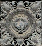 Metallo Lion Decoration (modello astratto della natura) Fotografie Stock