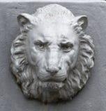 Metallo Lion Head Fotografia Stock