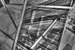 Metallo metallico e progettazioni astratte di vetro fotografia stock libera da diritti