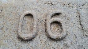 Metallo numero 6 Struttura di metallo arrugginito sotto forma di figure 06 Fotografie Stock Libere da Diritti