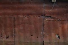Metallo ondulato arrugginito Immagini Stock Libere da Diritti