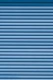 Metallo ondulato blu Fotografia Stock Libera da Diritti