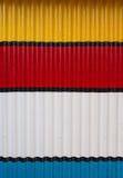 Metallo ondulato della pittura Fotografia Stock Libera da Diritti