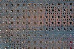 Metallo perforato Fotografia Stock Libera da Diritti