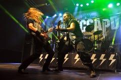 Metallo pesante, concerto rock in tensione Fotografia Stock Libera da Diritti