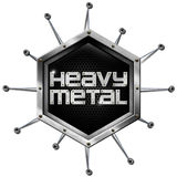 Metallo pesante - esagono metallico Fotografie Stock